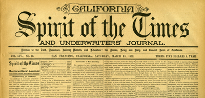 California Spirit of the Times Banner