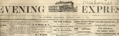 Los Angeles Evening Express Banner