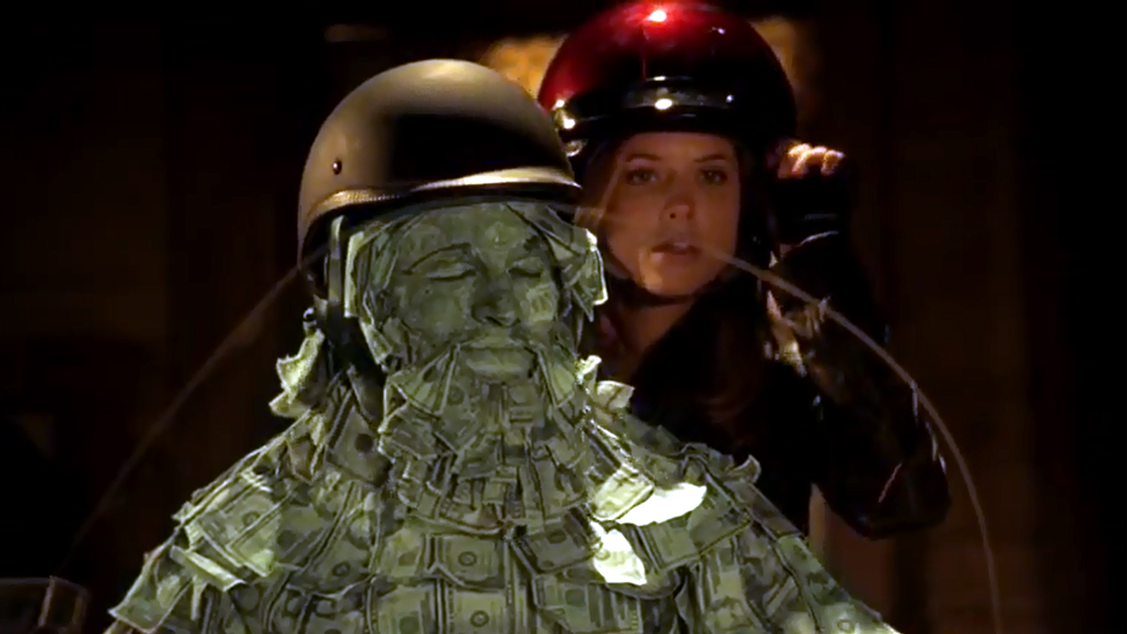 Think, that redhead in geico motorcycle commercial