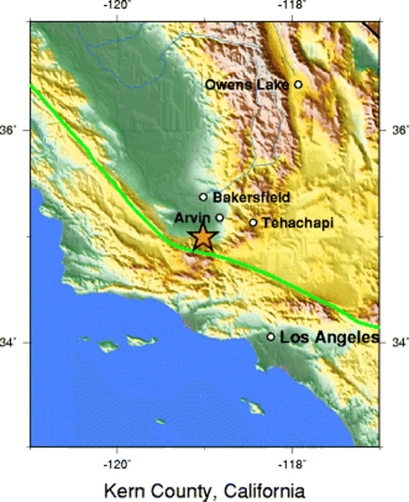 Scvhistory Com Tejon Caltech 1952 Kern County Earthquake