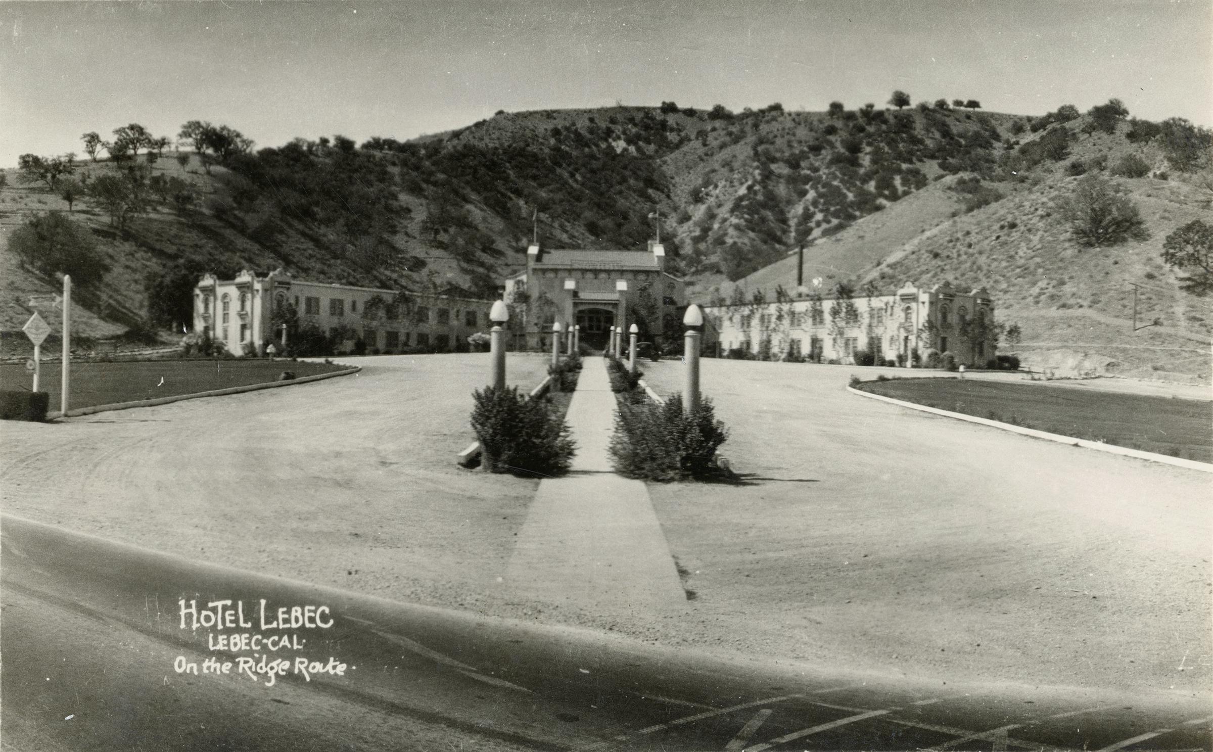 Scvhistory Lw2029 Lebec Hotel On The Ridge Route 1920s 1930s