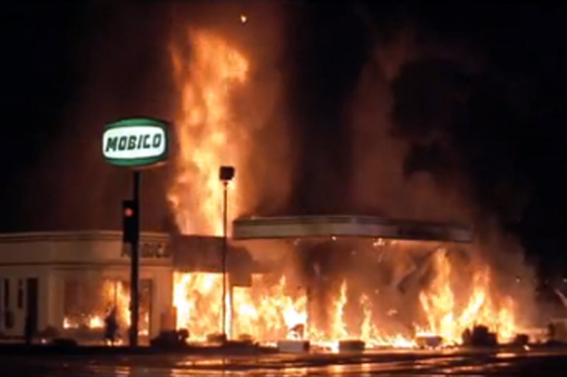 gas station explosion
