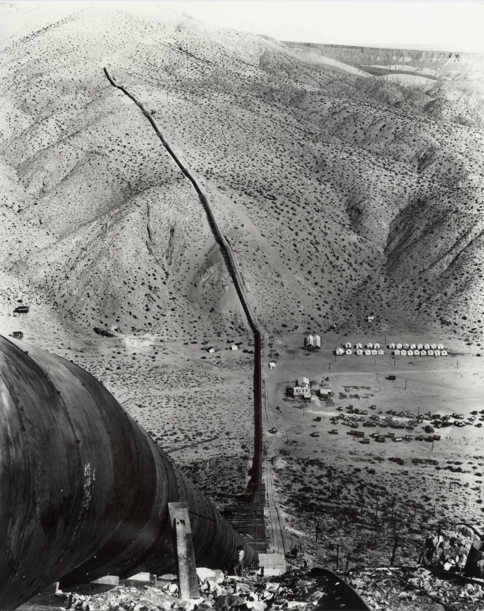 Scvhistory Com Lw2420 Los Angeles Aqueduct Jawbone Siphon Under Construction