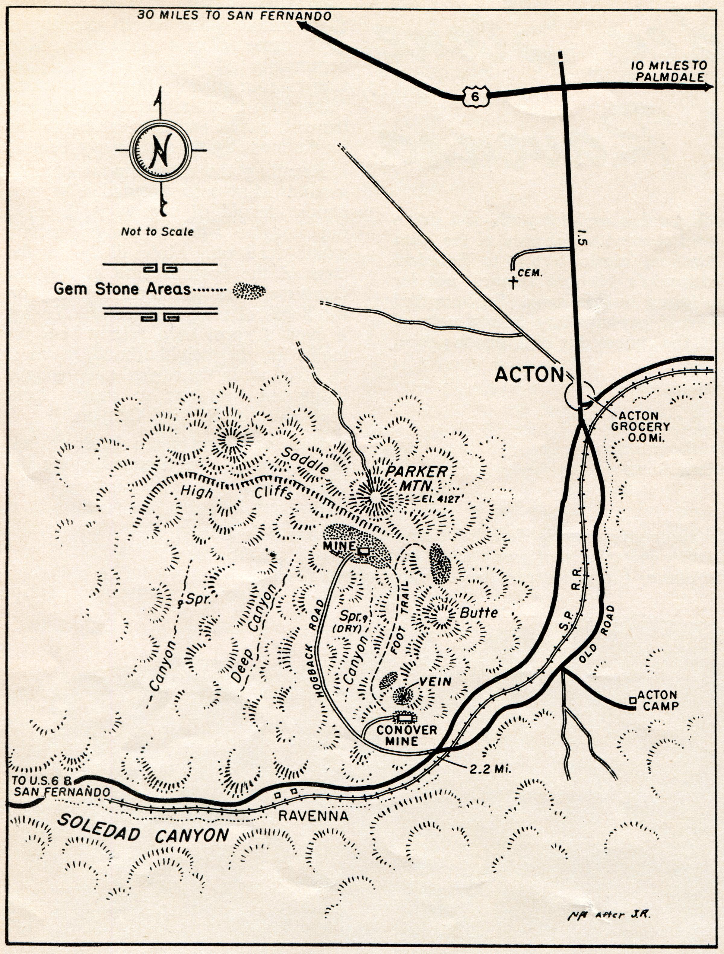 Rockhounding California Map.Scvhistory Com Ap2904 Ravenna Map Rockhounding At Ravenna 1957