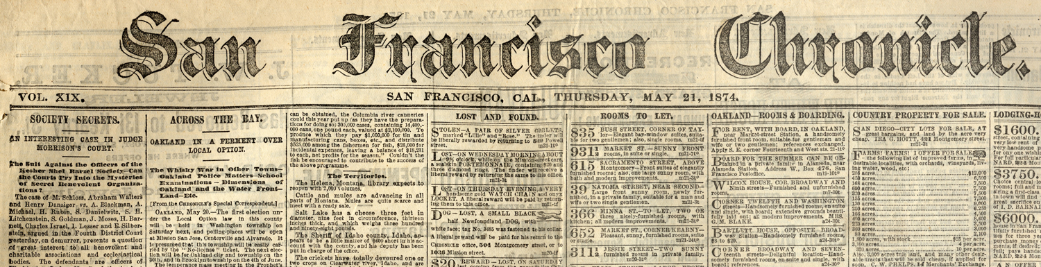 San Francisco Chronicle Banner