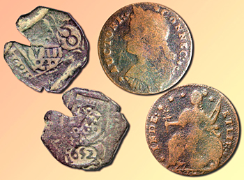 Spanish cob and Conn. copper