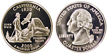 2005-S California quarter