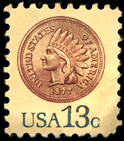 13-cent Indian Head