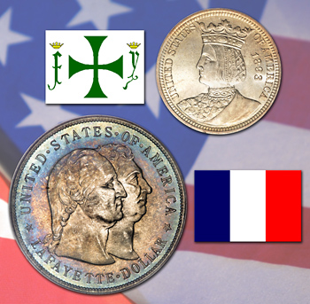 Isabella Quarter, Lafayette Dollar