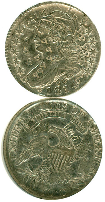 1814 Pattern 50c, Platinum