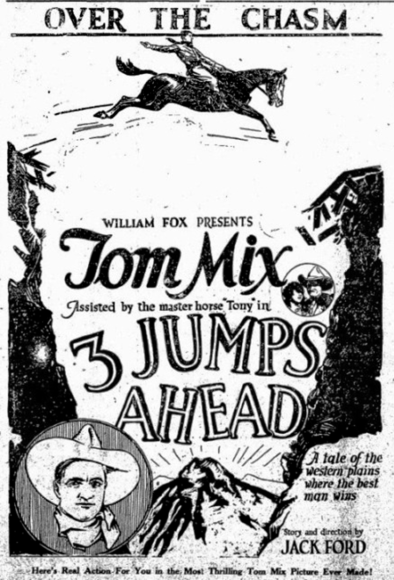 scvhistory tom mix advertisements for 3 jumps ahead fox Oriental Clothes in the 1920 daily clintonian clinton okla dec 7 1923 click to enlarge